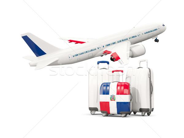 Bagażu banderą republika trzy torby samolot Zdjęcia stock © MikhailMishchenko