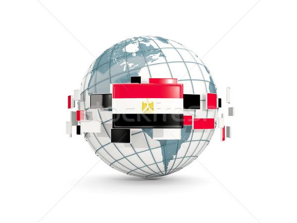 мира флаг изолированный белый 3d иллюстрации карта Сток-фото © MikhailMishchenko