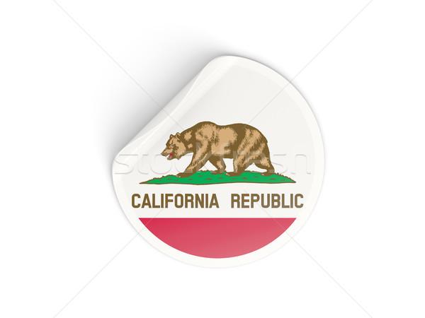 Flag of california, US state round sticker Stock photo © MikhailMishchenko