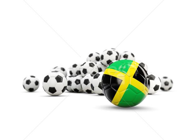 Football with flag of jamaica isolated on white Stock photo © MikhailMishchenko