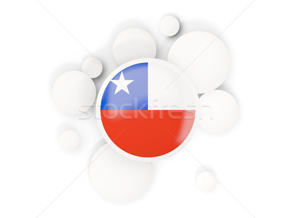Round flag of chile with circles pattern Stock photo © MikhailMishchenko