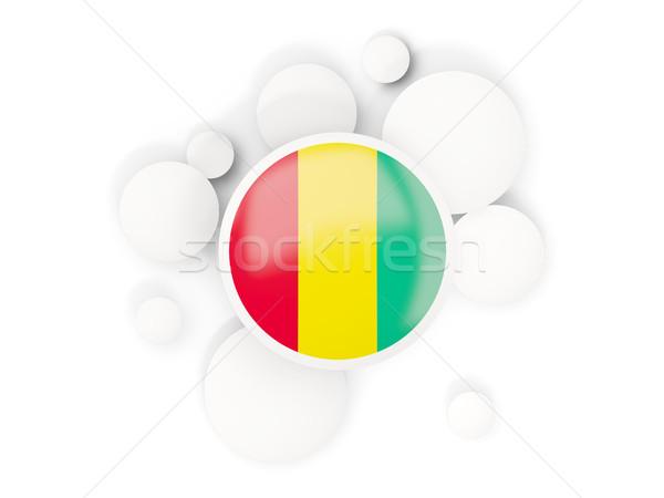 Round flag of guinea with circles pattern Stock photo © MikhailMishchenko
