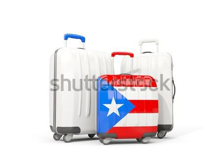 Luggage with flag of panama. Suitcase isolated on white Stock photo © MikhailMishchenko