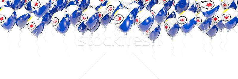 Balloons frame with flag of bonaire Stock photo © MikhailMishchenko