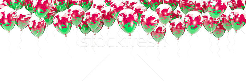 Balloons frame with flag of wales Stock photo © MikhailMishchenko