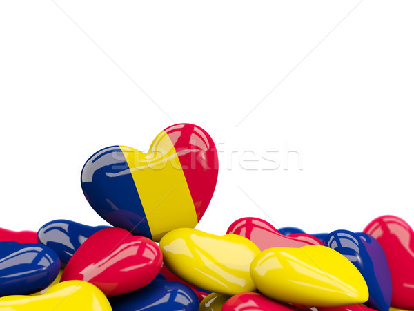 Heart with flag of chad Stock photo © MikhailMishchenko