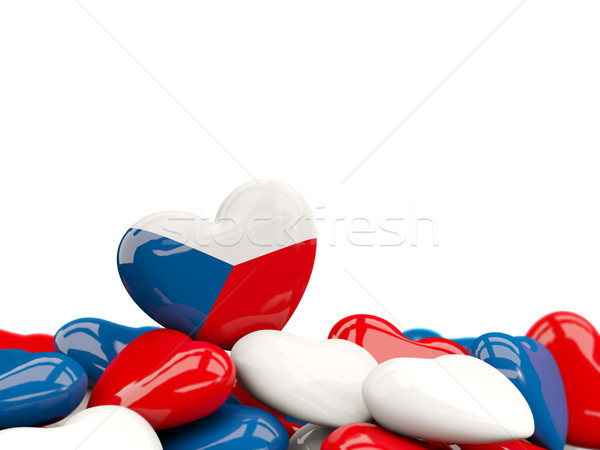 Corazón bandera República Checa superior corazones aislado Foto stock © MikhailMishchenko