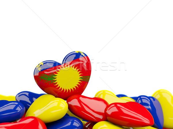 Heart with flag of guadeloupe Stock photo © MikhailMishchenko