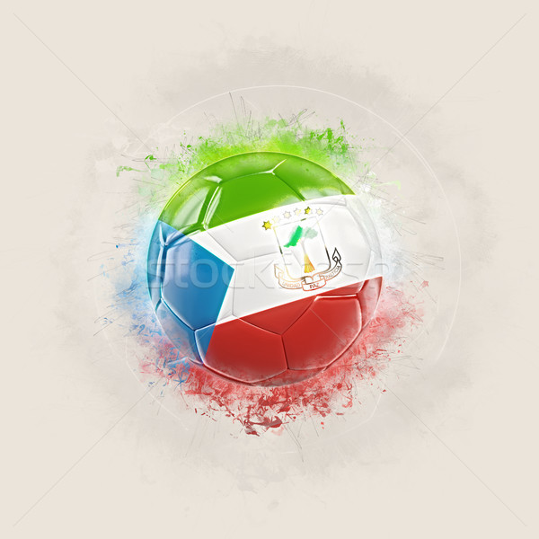 Grunge football with flag of equatorial guinea Stock photo © MikhailMishchenko