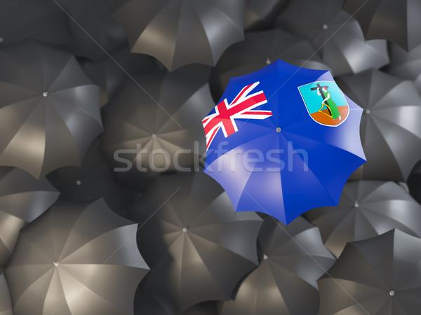 Umbrella with flag of montserrat Stock photo © MikhailMishchenko