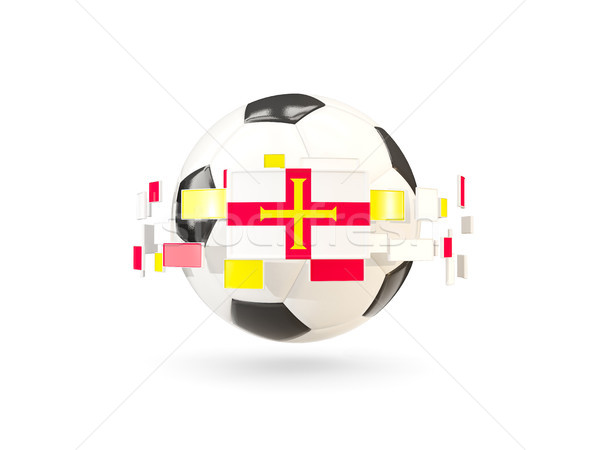 Soccer ball with line of flags. Flag of guernsey Stock photo © MikhailMishchenko