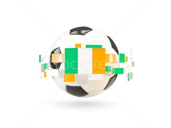 Futballabda vonal zászlók zászló Írország lebeg Stock fotó © MikhailMishchenko