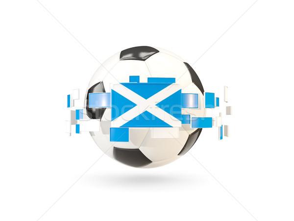 Futebol linha bandeiras bandeira escócia flutuante Foto stock © MikhailMishchenko