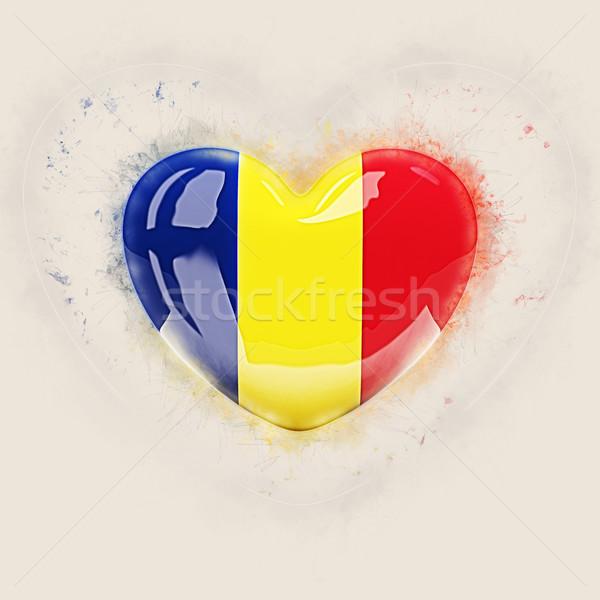 Heart with flag of romania Stock photo © MikhailMishchenko