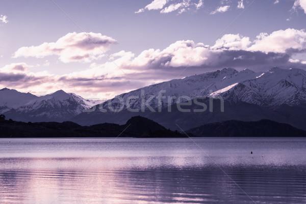 Alpejski dekoracje około jezioro turystyka Nowa Zelandia Zdjęcia stock © MikhailMishchenko