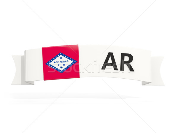 arkansas state flag on banner with postal abbreviation isolated  Stock photo © MikhailMishchenko