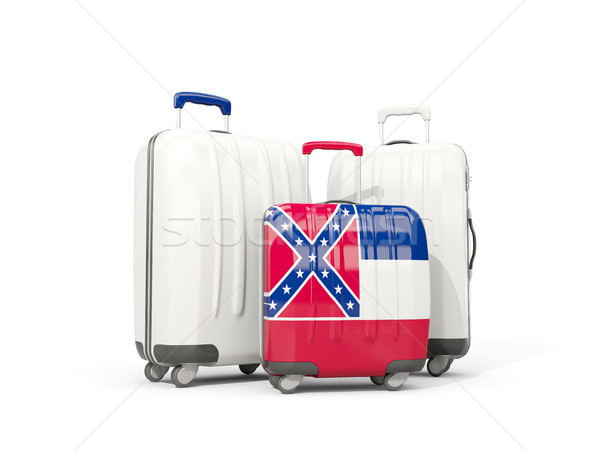 Luggage with flag of mississippi. Three bags with united states  Stock photo © MikhailMishchenko