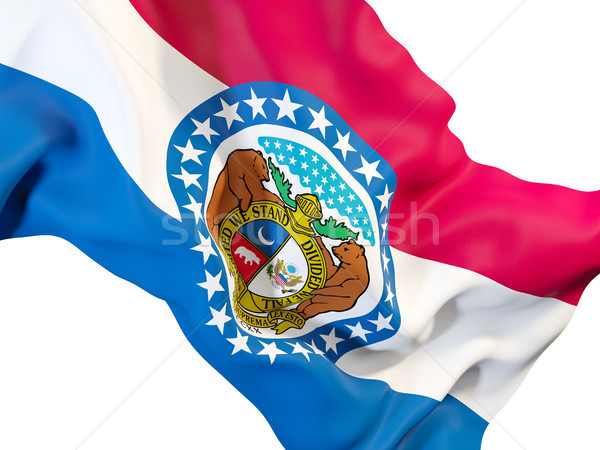 missouri state flag close up. United states local flags Stock photo © MikhailMishchenko