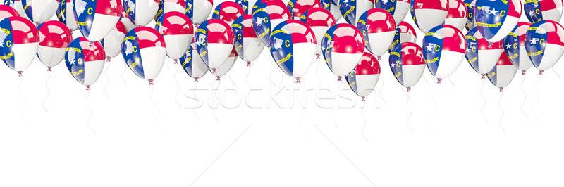 Léggömbök keret zászló Észak-Karolina Egyesült Államok helyi Stock fotó © MikhailMishchenko