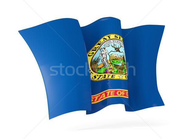 Idaho bandeira ícone Estados Unidos Foto stock © MikhailMishchenko