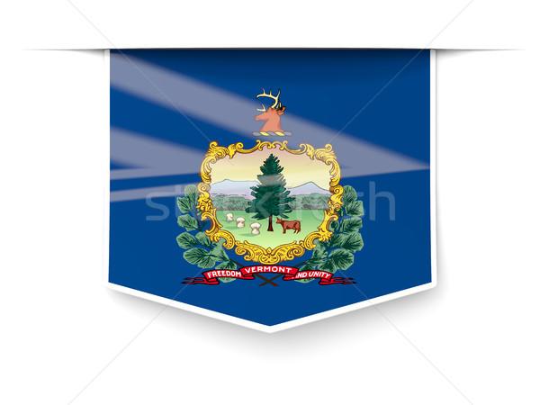 Vermont bayrak kare etiket gölge Amerika Birleşik Devletleri Stok fotoğraf © MikhailMishchenko