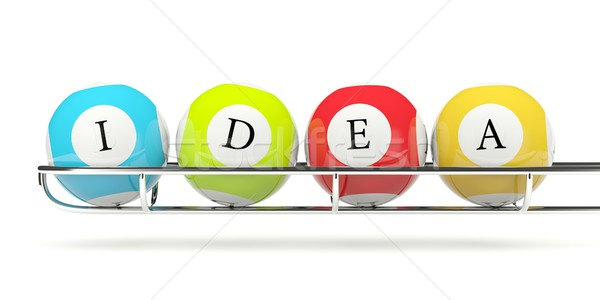 Lottery balls with word IDEA Stock photo © MikhailMishchenko