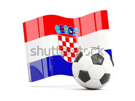 Flag of croatia with football in front of it Stock photo © MikhailMishchenko