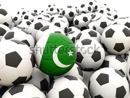 Zászló Pakisztán futball csapat vidék Stock fotó © MikhailMishchenko