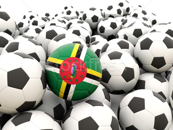 Piłka nożna banderą Dominika lata Zdjęcia stock © MikhailMishchenko