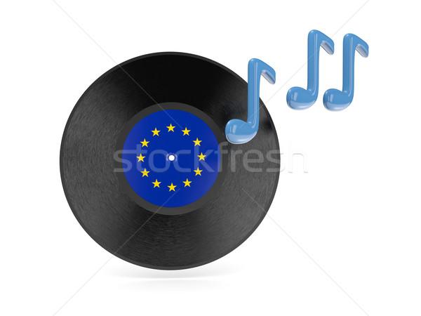 Vinyl disk with flag of european union Stock photo © MikhailMishchenko