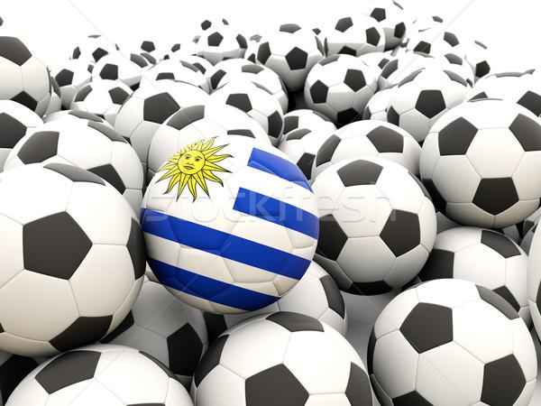 サッカー フラグ ウルグアイ 夏 ストックフォト © MikhailMishchenko