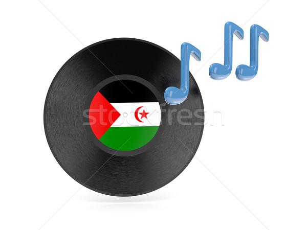 Vinyl schijf vlag westerse sahara geïsoleerd Stockfoto © MikhailMishchenko