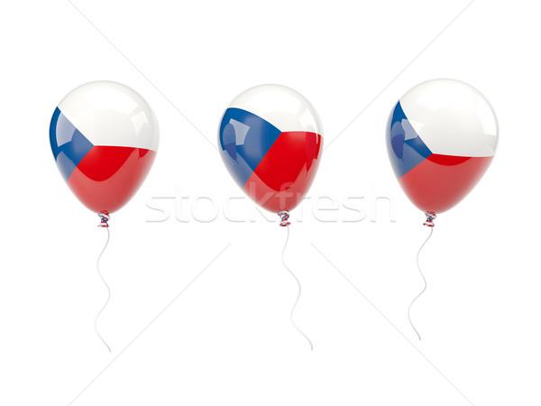 Air balloons with flag of czech republic Stock photo © MikhailMishchenko