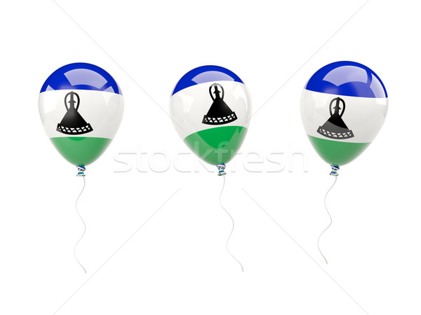 Air ballons pavillon Lesotho isolé blanche Photo stock © MikhailMishchenko