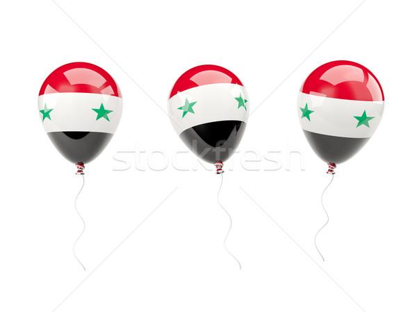Air balloons with flag of syria Stock photo © MikhailMishchenko