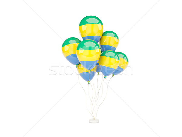 Flying шаров флаг Габон изолированный белый Сток-фото © MikhailMishchenko