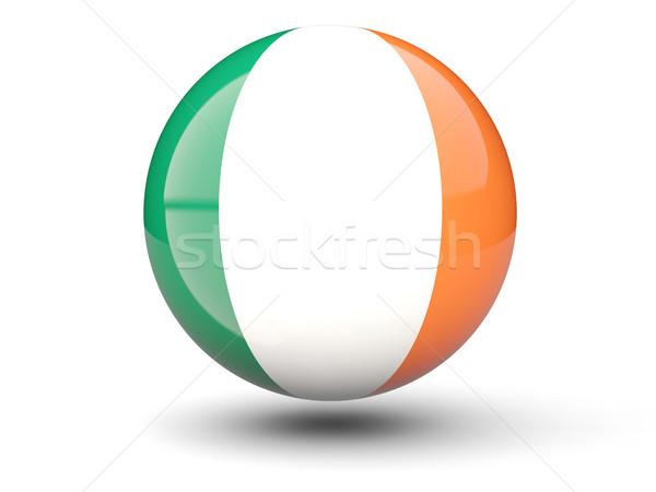 Icon vlag Ierland geïsoleerd witte reizen Stockfoto © MikhailMishchenko