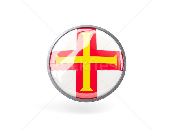 Round icon with flag of guernsey Stock photo © MikhailMishchenko