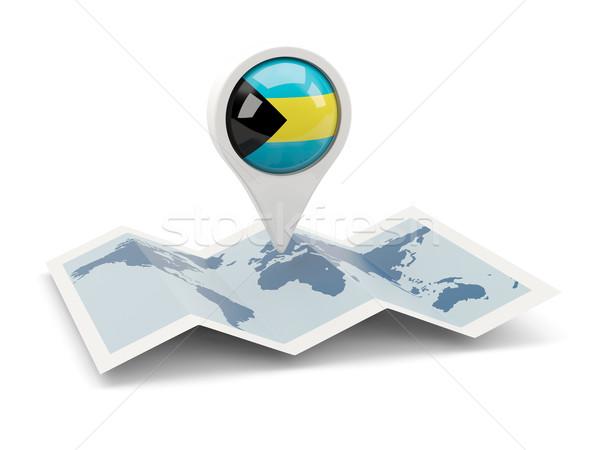 Round pin with flag of bahamas Stock photo © MikhailMishchenko