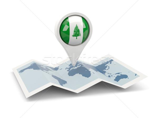 Round pin with flag of norfolk island Stock photo © MikhailMishchenko