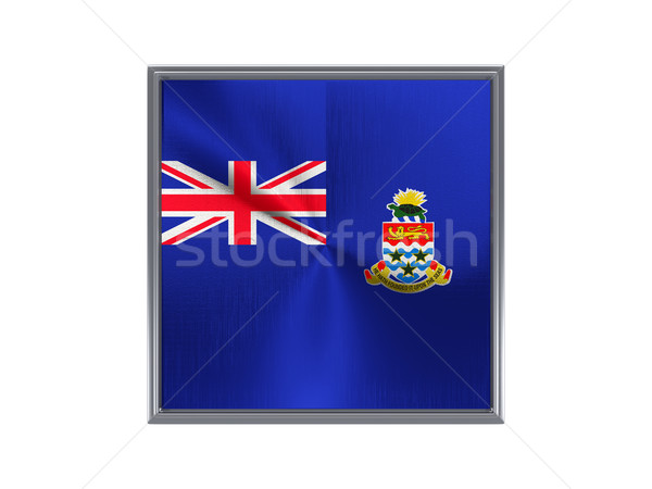Square metal button with flag of cayman islands Stock photo © MikhailMishchenko