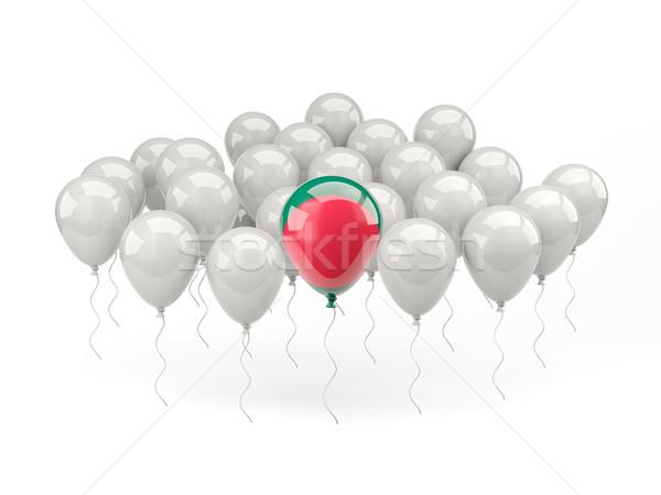 Lucht ballonnen vlag Bangladesh geïsoleerd witte Stockfoto © MikhailMishchenko