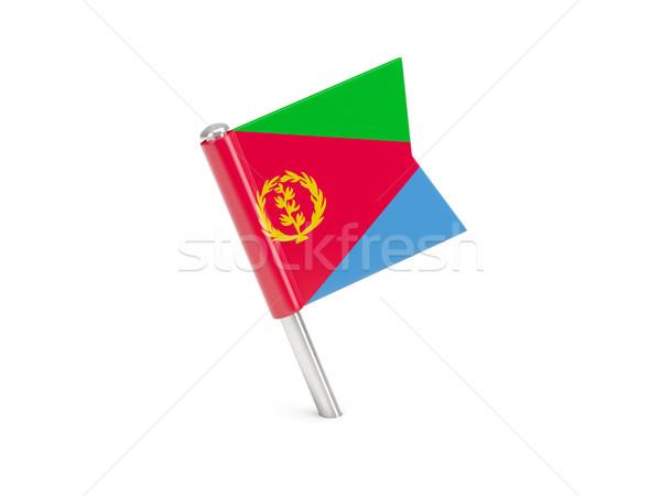 Banderą pin Erytrea odizolowany biały Zdjęcia stock © MikhailMishchenko