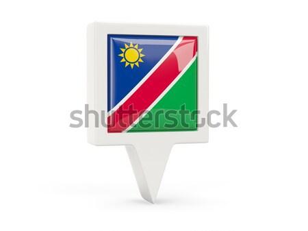 квадратный наклейку флаг Намибия изолированный белый Сток-фото © MikhailMishchenko