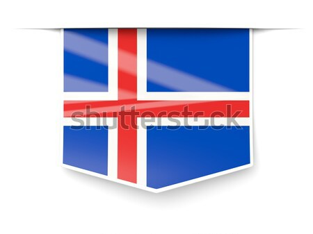 Flag label of iceland Stock photo © MikhailMishchenko