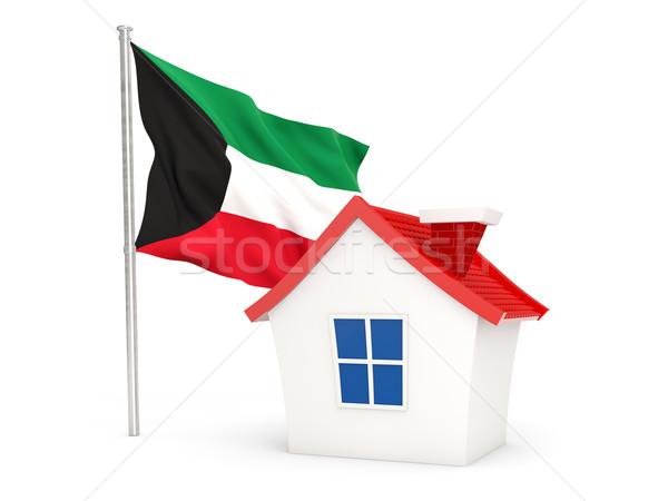 Casa bandiera Kuwait isolato bianco home Foto d'archivio © MikhailMishchenko