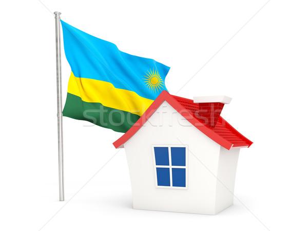 Maison pavillon Rwanda isolé blanche maison Photo stock © MikhailMishchenko