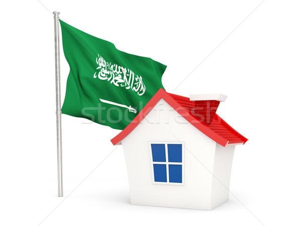 Ev bayrak Suudi Arabistan yalıtılmış beyaz ev Stok fotoğraf © MikhailMishchenko