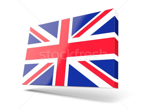 Cuadrados icono bandera Reino Unido aislado blanco Foto stock © MikhailMishchenko