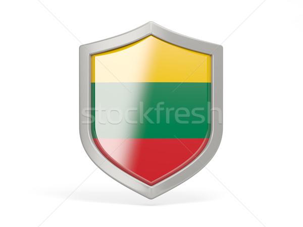 シールド アイコン フラグ リトアニア 孤立した 白 ストックフォト © MikhailMishchenko
